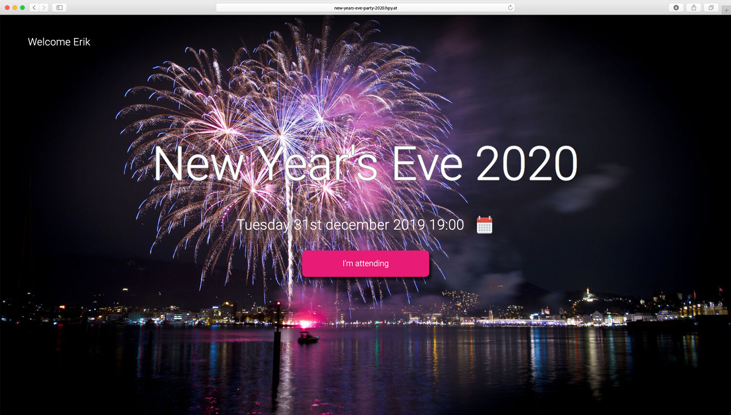 Organize new years eve party