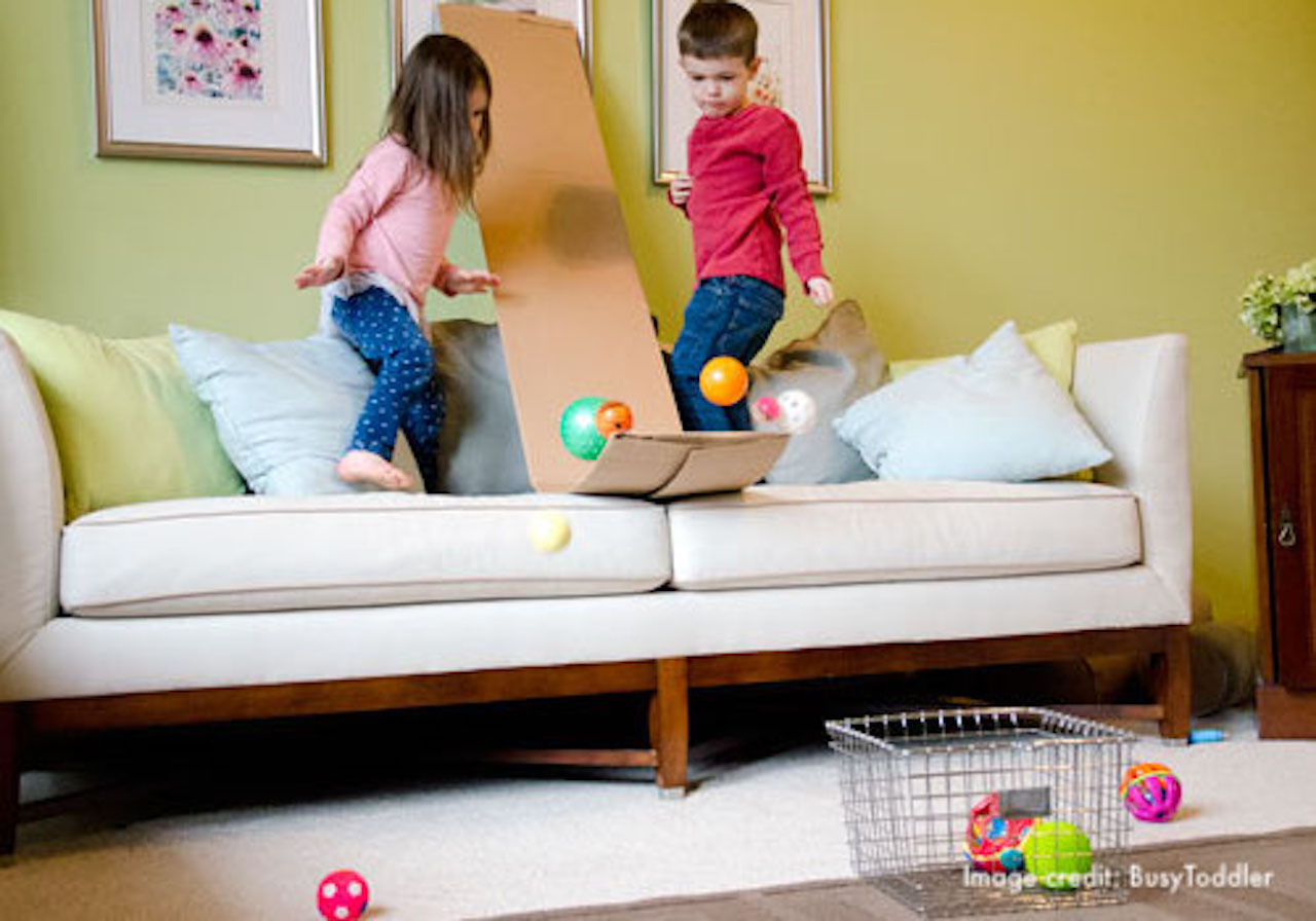 DIY Ball/Car Ramp (Image credit: Busy Toddler)