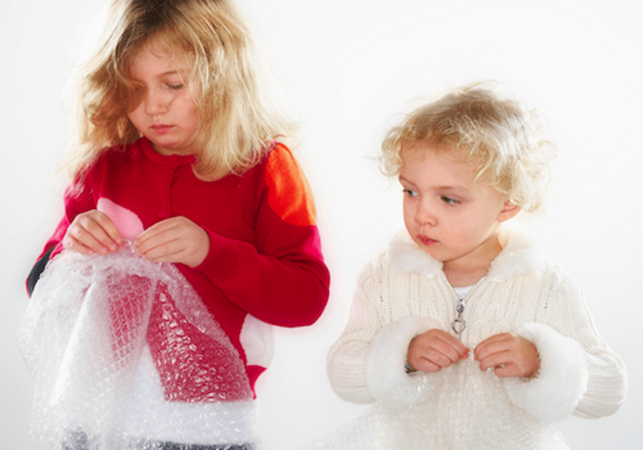 Bubble wrap is a fun craft and sensory material