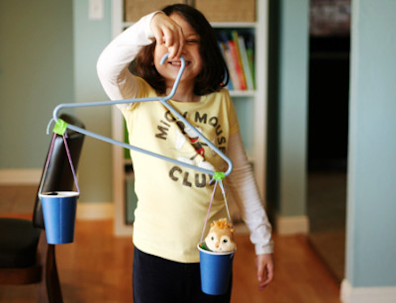 Hanger balancing scale (Image credit: Amanda Formaro and Fun Family Crafts)‍