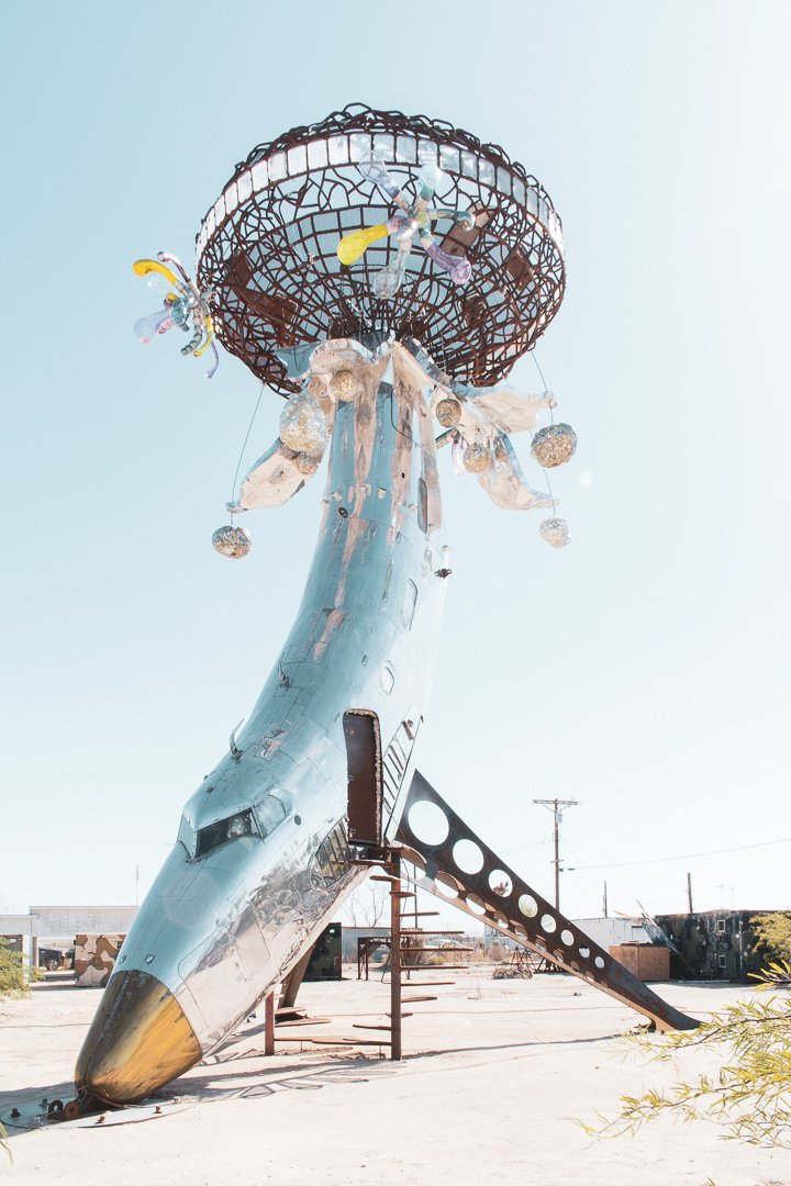 Bombay Beach California Airplane Sculpture