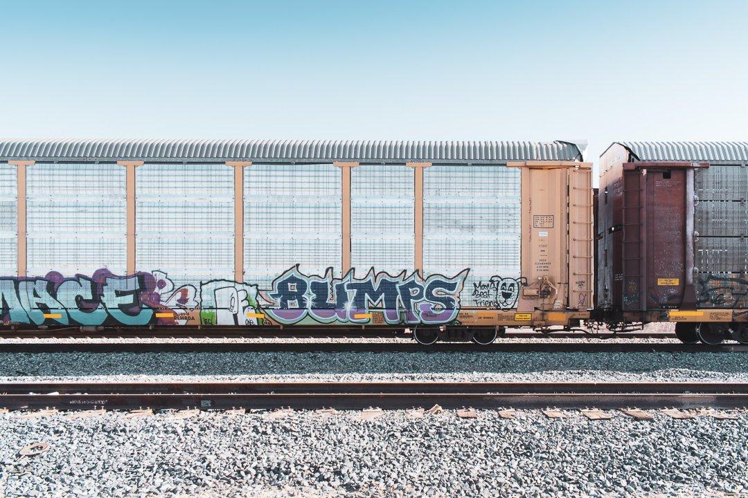 Salton Sea - Abandoned Train