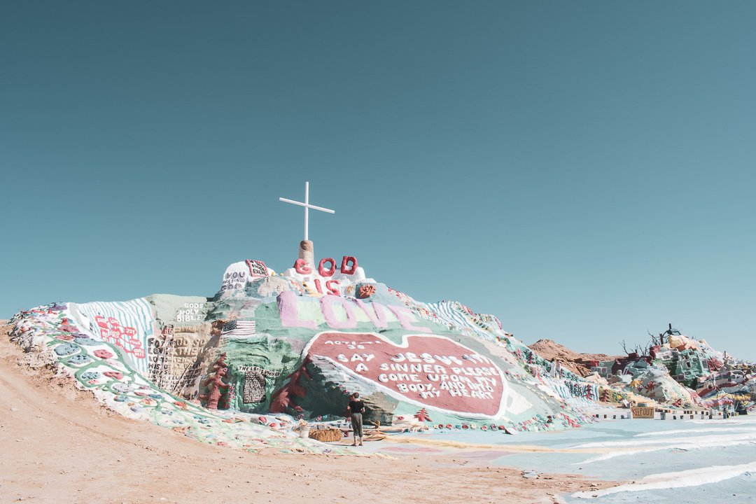Salvation Mountain in Slab City California