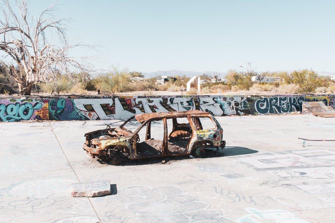 Skatepark in Slab City California