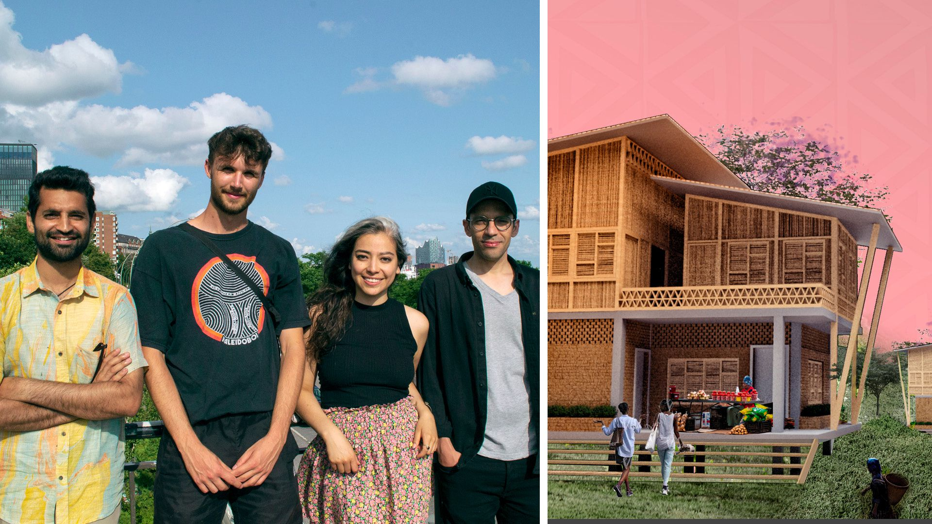 Four students from HafenCity University in Hamburg win the Dignified Home Design Competition.