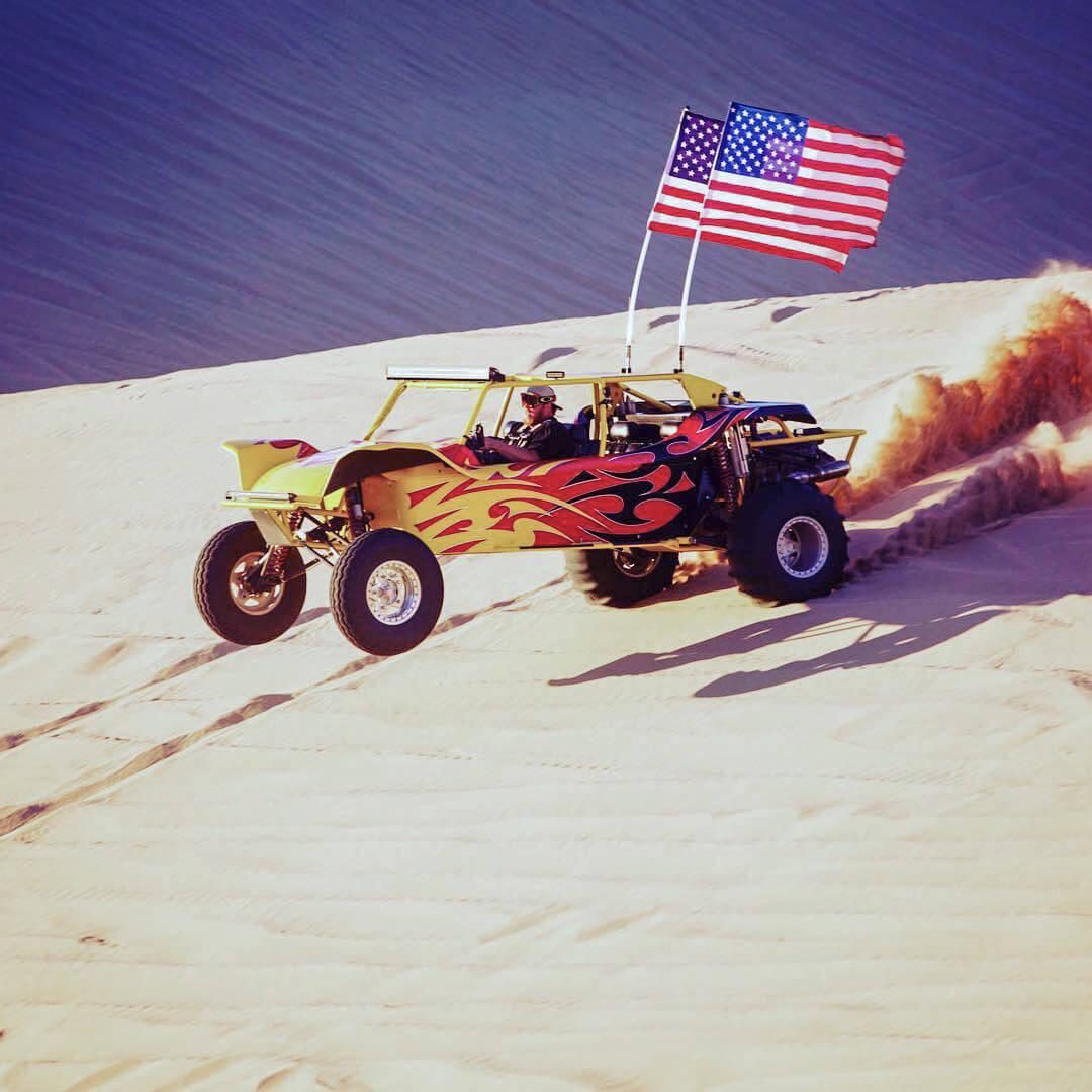 Crisp Customs Sand Rial Riding Through Desert