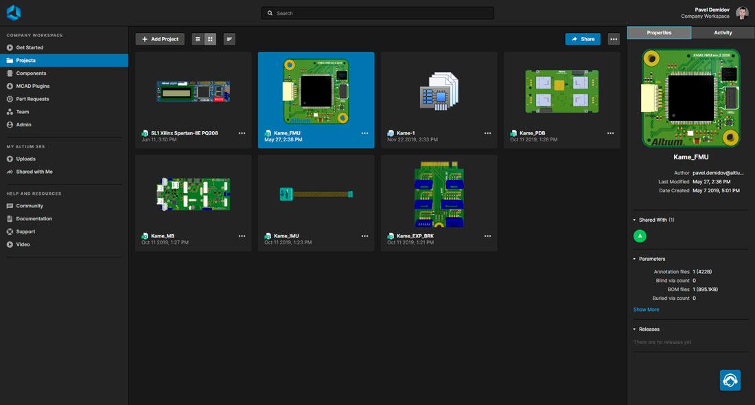 Просмотр Altium 365 Workspace через Web-браузер