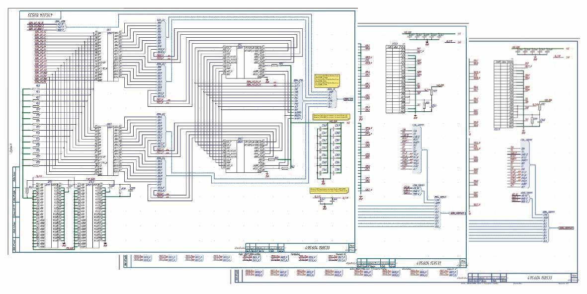 Электрические принципиальные схемы функциональных групп подсистемы ОЗУ в Altium Designer