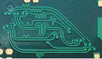 Фрагмент топологии платы обработки видеосигнала