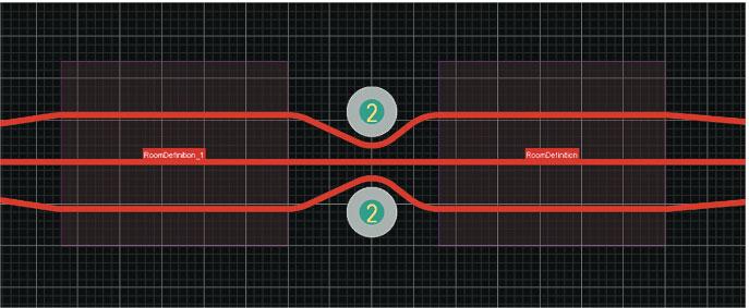 Зоны с искусственным увеличением зазора между проводниками