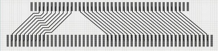 Пример коммутации двух рядов контактных площадок