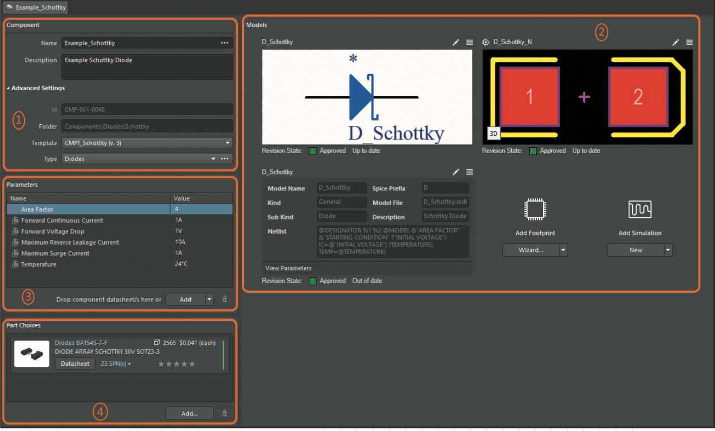 Altium Concor Pro Интерфейс редактора Component Editorв режиме Single Component Editing