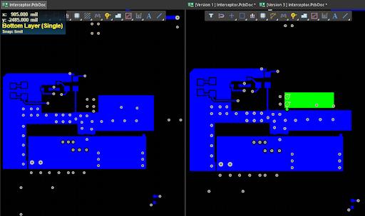 Сравнение текущей и предыдущей версии проекта в Altium Designer