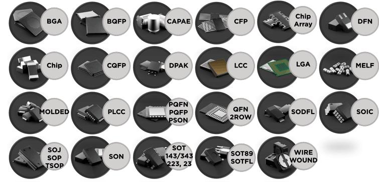 Перечень корпусов по стандарту IPC-7351