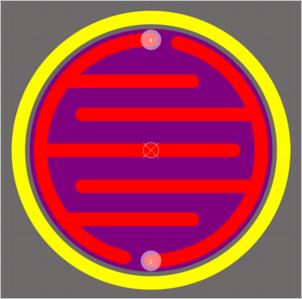 Пример контактной площадки сложной формы