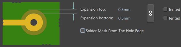 Правило контроля отступов паяльной маски в Altium Designer