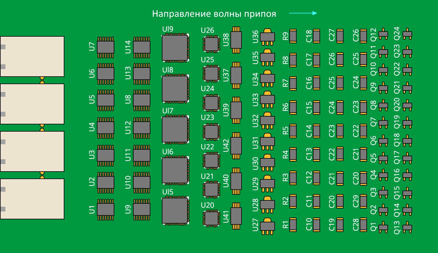 Altium Designer равномерное размещение крупных компонентов