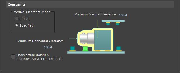 Altium Designer Правило Component Clearance