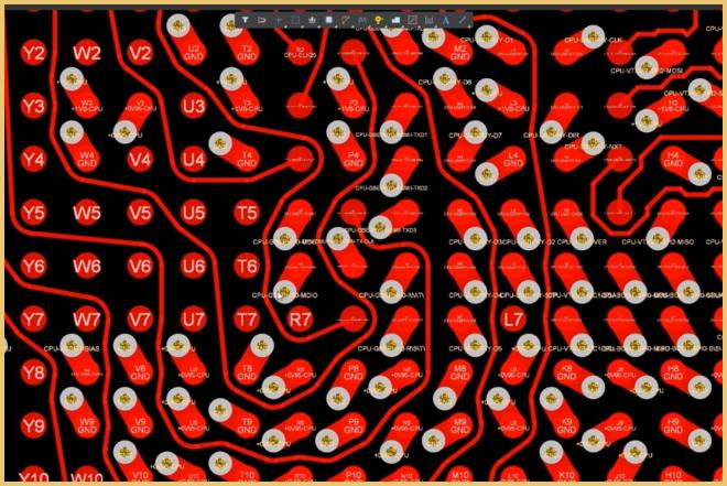 Altium Designer пример топологии в стиле Snake Routing