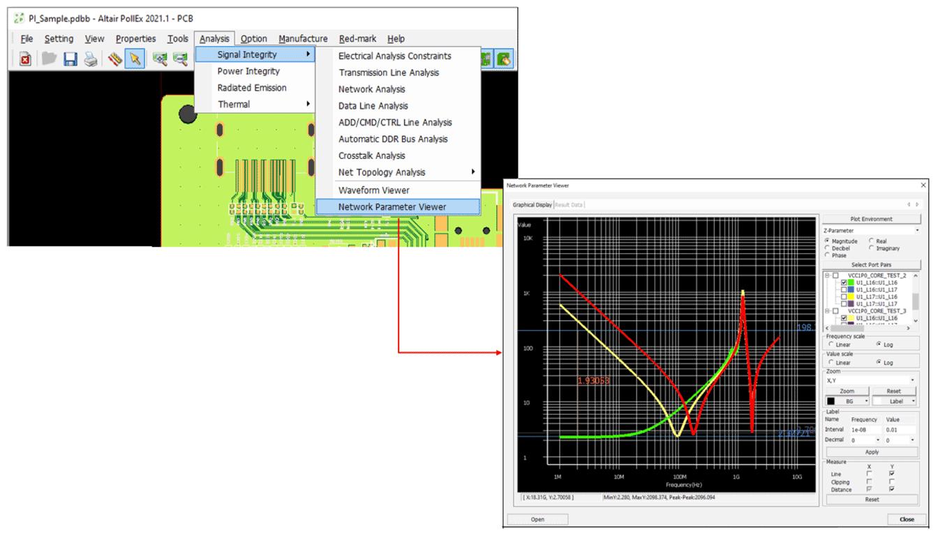 Altair Pollex SI Просмотр результатов анализа цепей