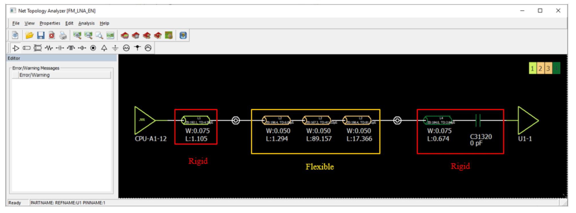 Altair PollEx Анализ гибкой / жесткой части структуры слоев печатной платы