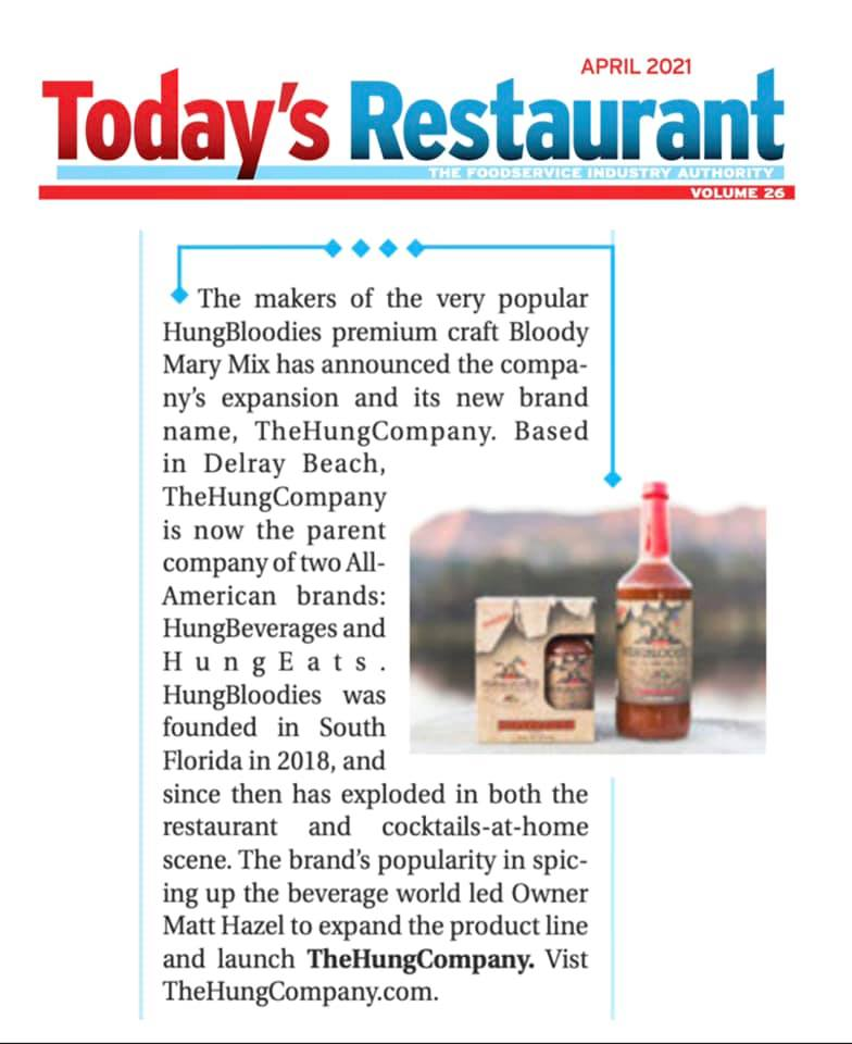 Clip of Today's Restaurant Article about HungBloodies