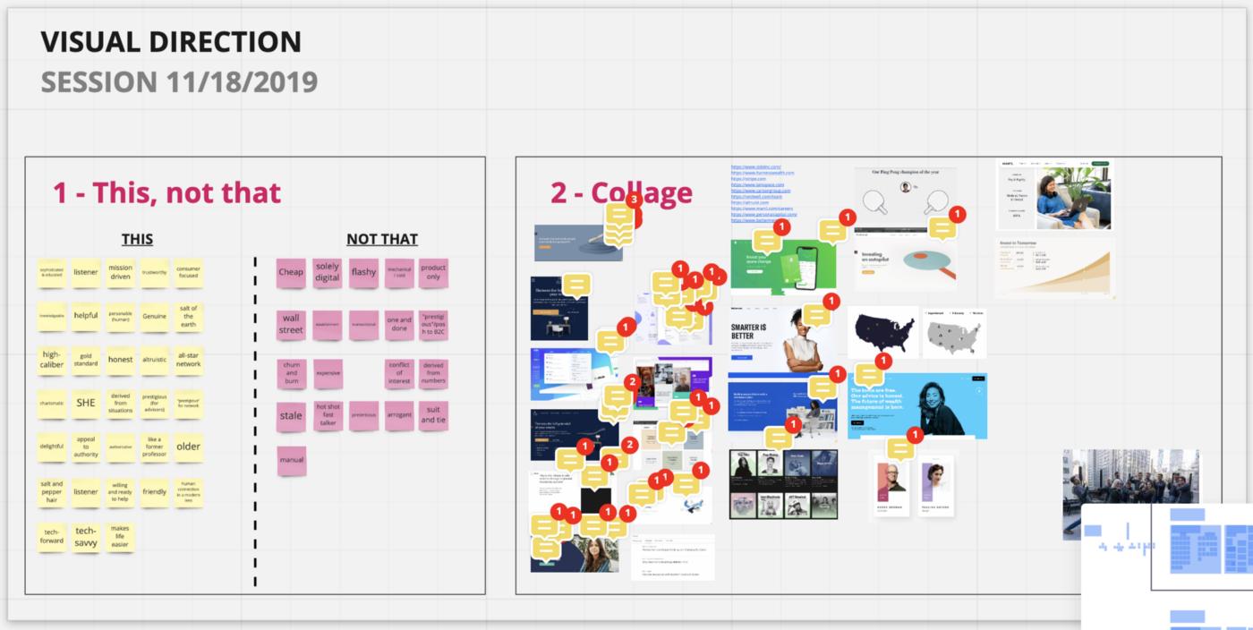 Screenshot of Miro's interface.