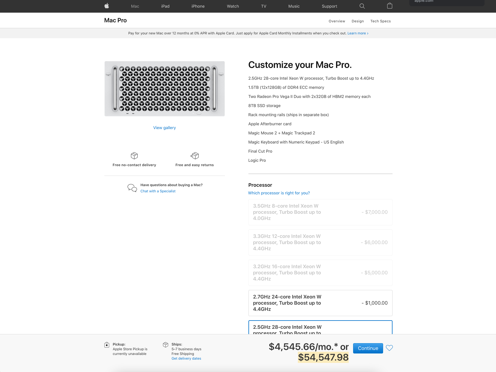 Screenshot of the price of the Mac Pro - Ed Orozco helping design agencies scale.