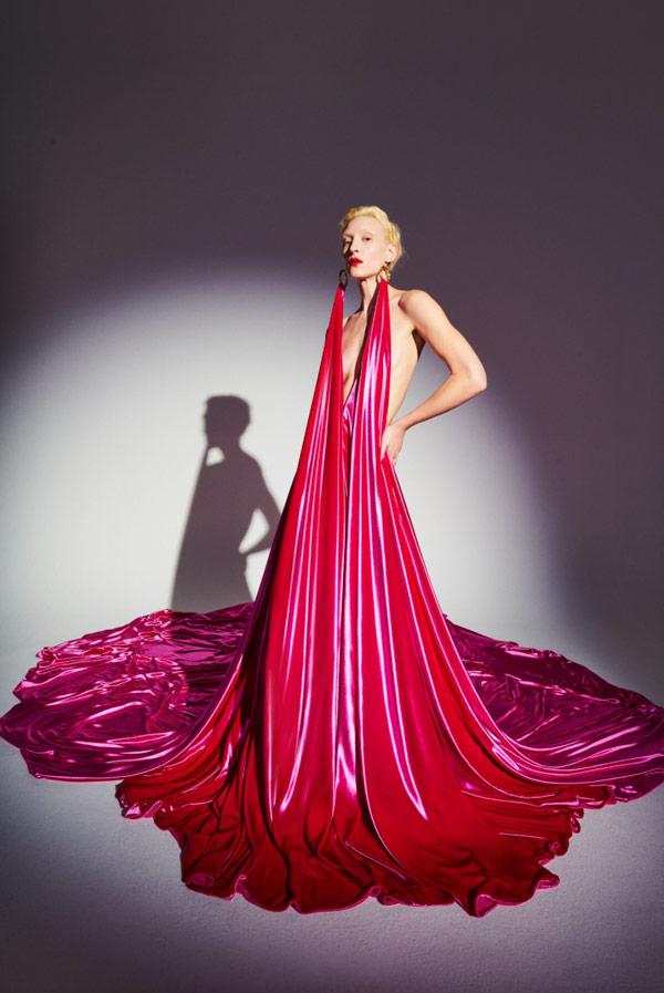 Schiaparelli SS21 Ad Campaign Pink Dress