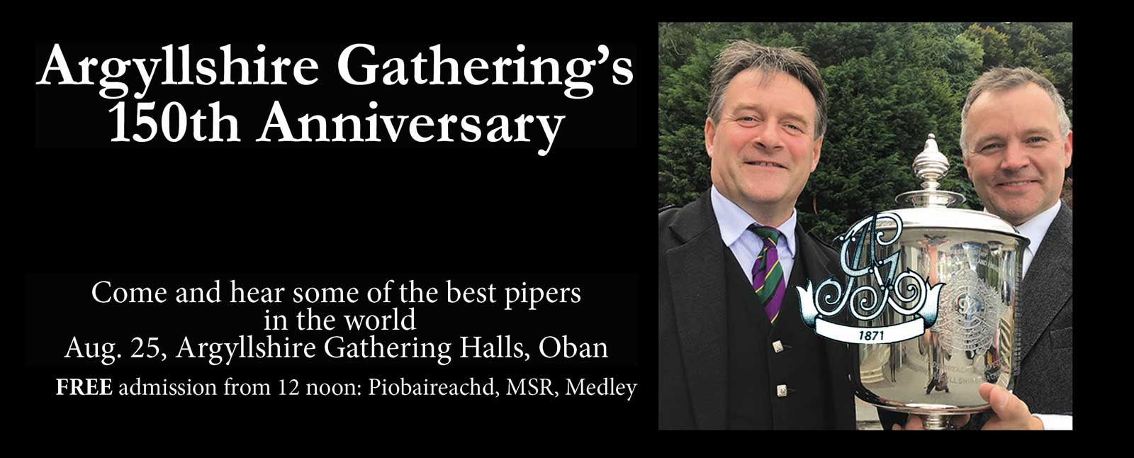 Argyllshire Gathering 150th Anniversary Piping Competition - image courtesy Piping Press