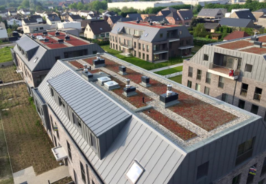 Platte daken voor residenties en appartementen