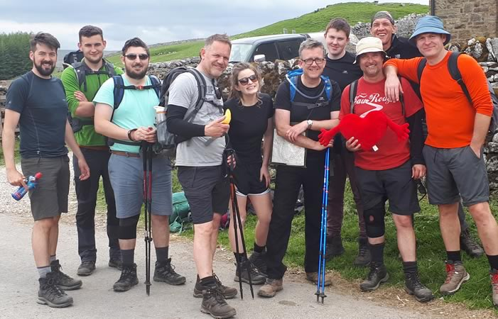 Group of hikers who stayed in the bunkroom