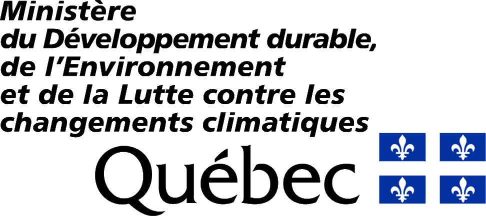 Logo Ministère du Développement durable, de l'Environnement et de la Lutte contre les changements climatiques
