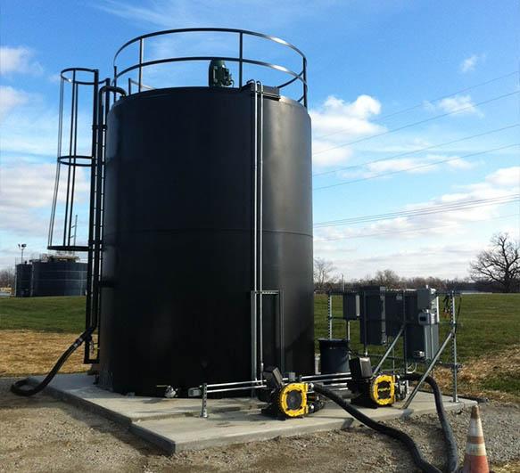 13,000 gallon, Carbon Steel storage tank