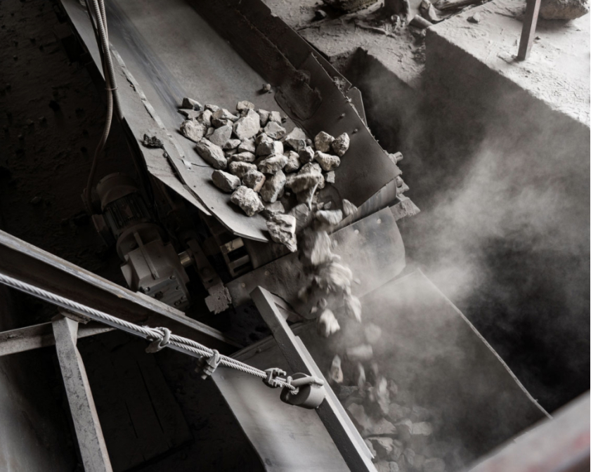 Coal being processed at a facility