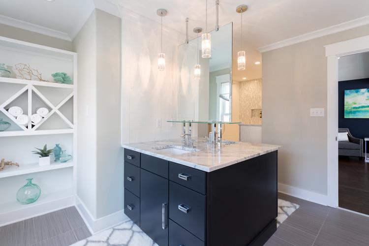 white and black modern bathroom