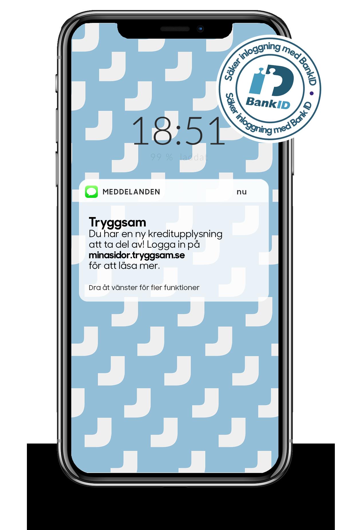 Id skydd med sms larm i mobilen