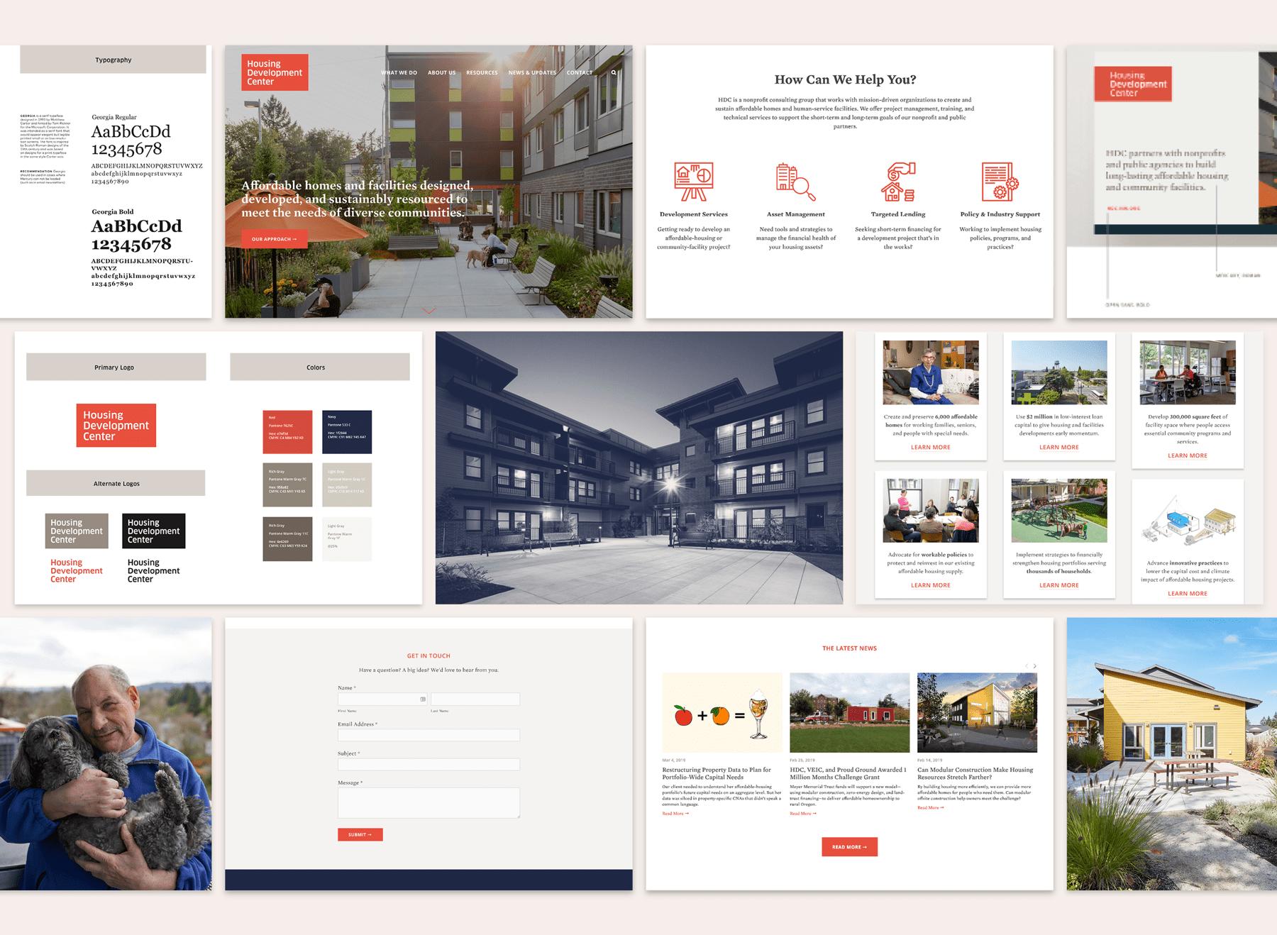 Web design project showcase.