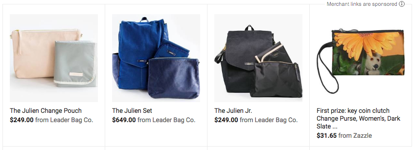 Leader Bag Co. in Google Shopping