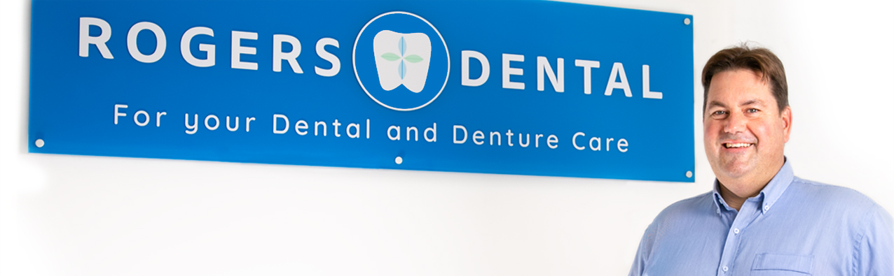 Barry Rogers has an onsite lab to custom create your dentures or mouthguards.