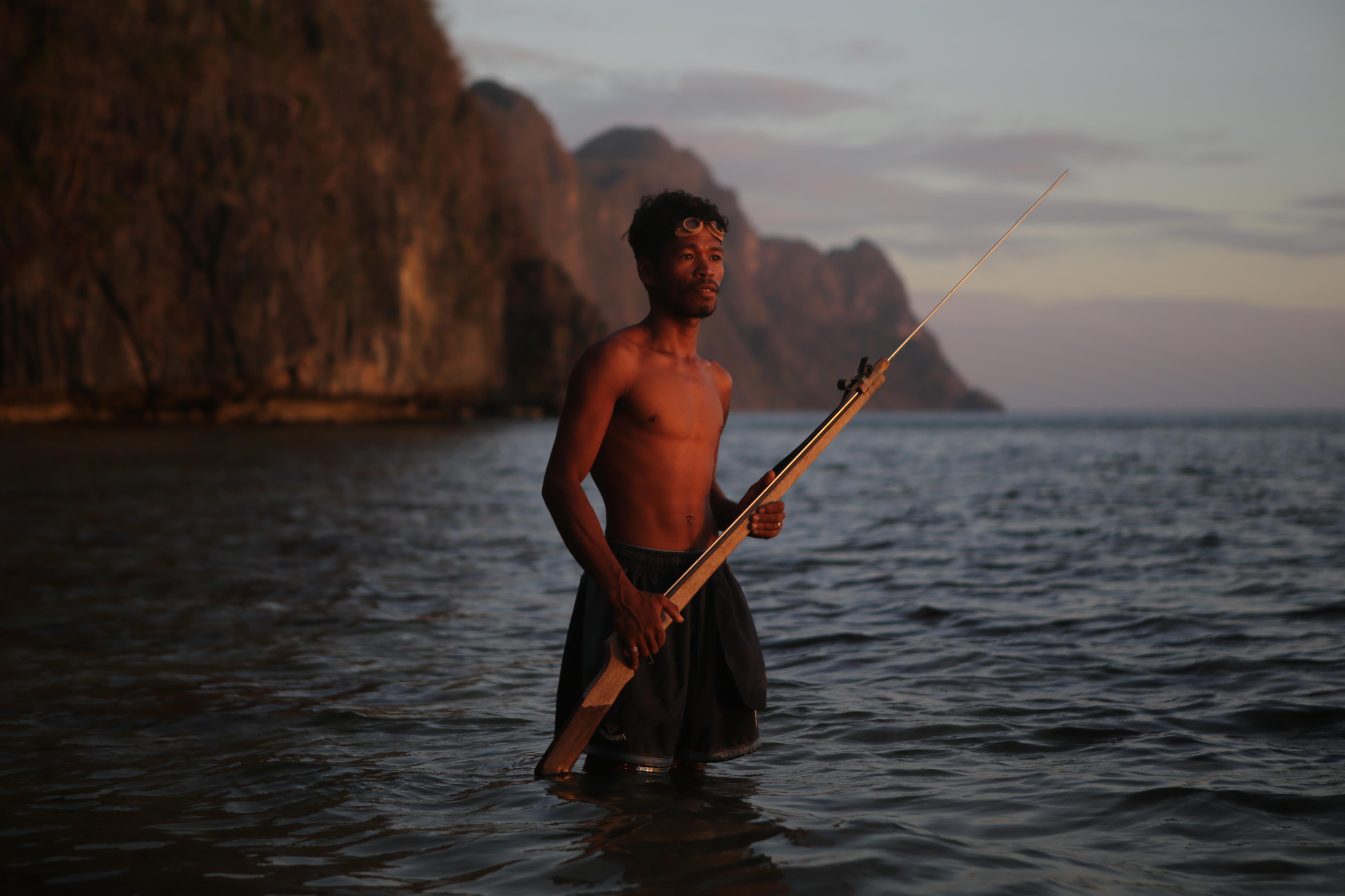 Tagbanua fisherman from Coron Palawan