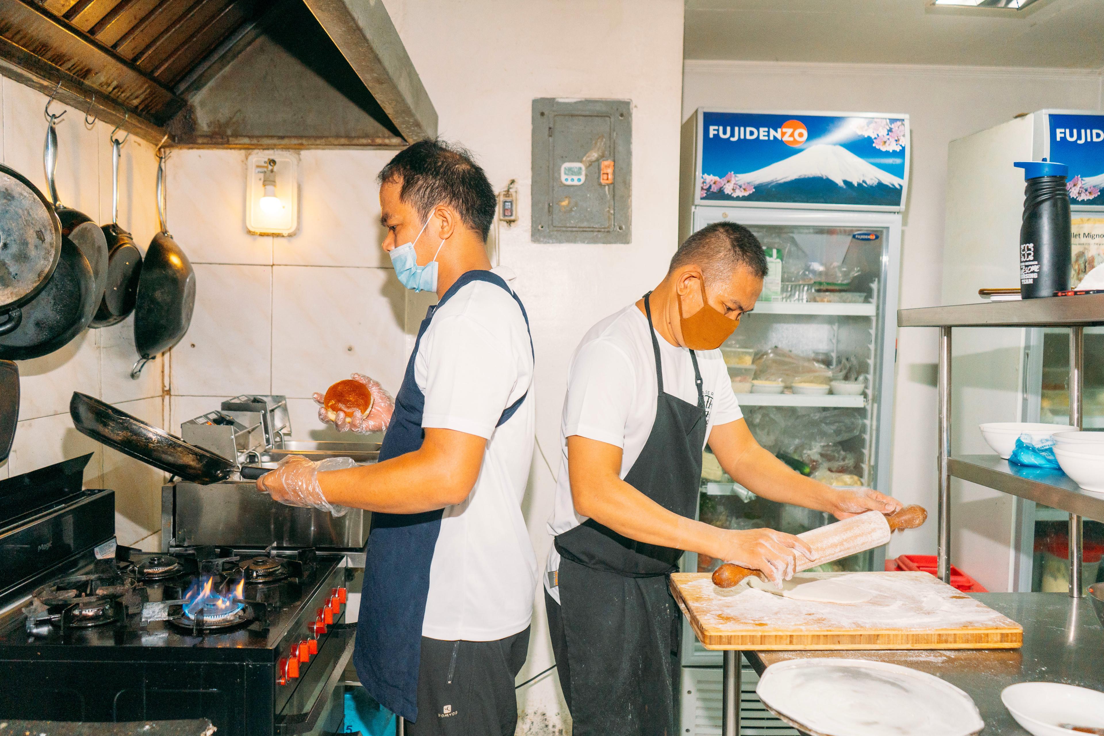 Chefs at The Village Cafe Parañaque