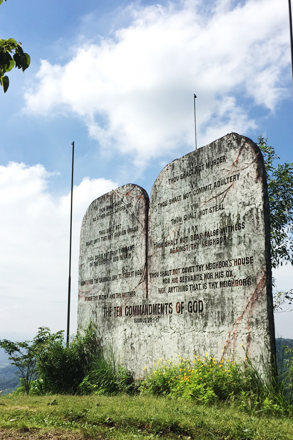 The Ten Commandments signage in Tanay Rizal