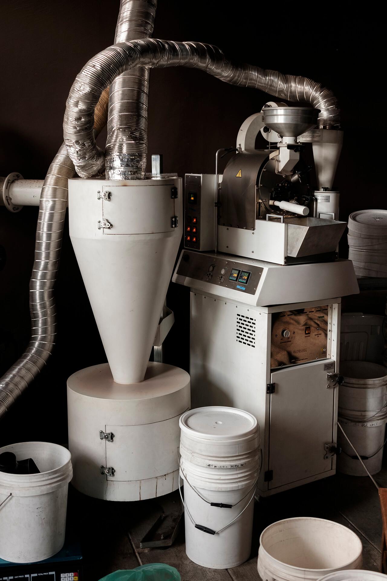 Roasting machines at Kalsada Coffes Headquarters in EDSA Brewery