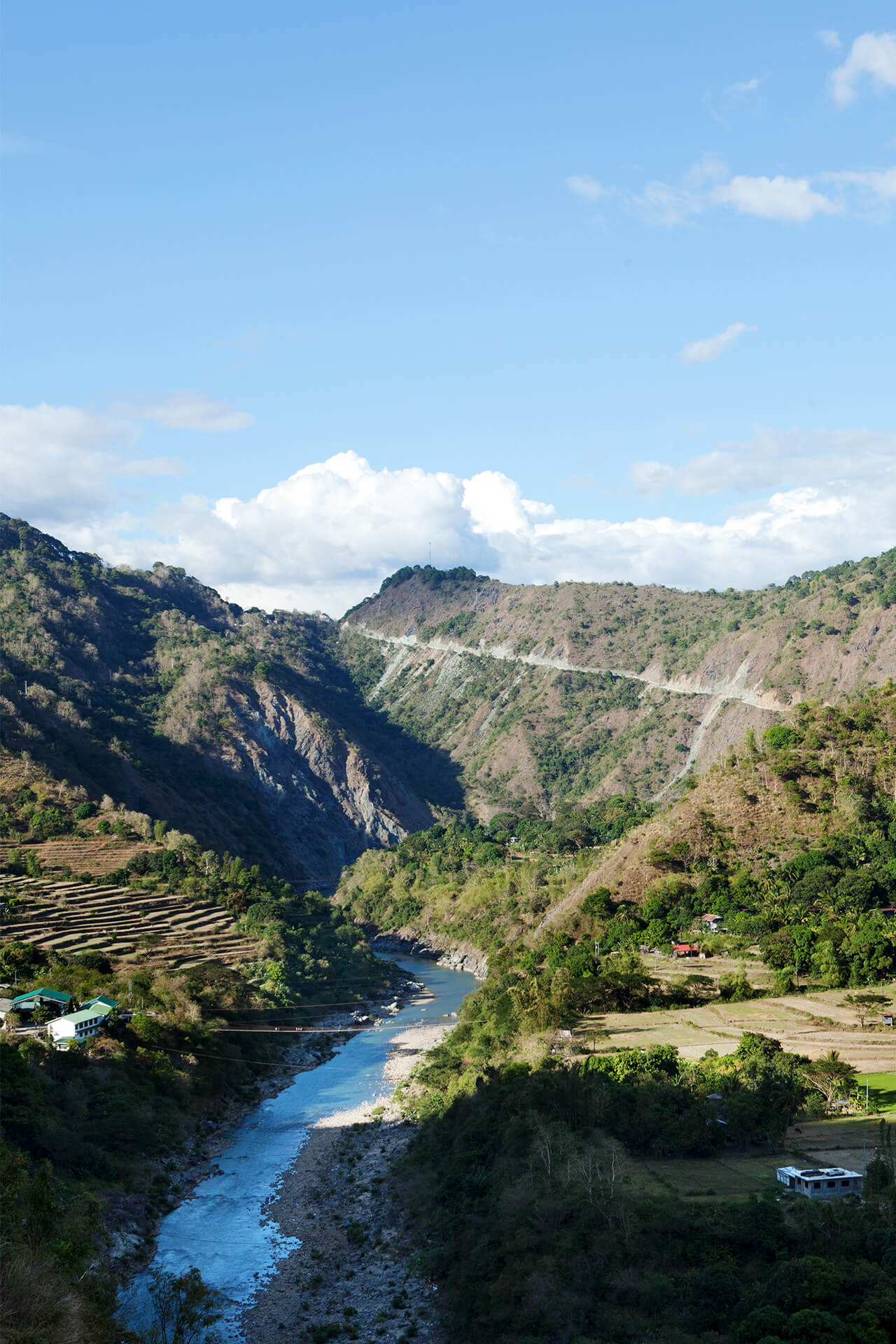 The view from along the Cordillera Mountain Ultra trail in Itogon, Benguet