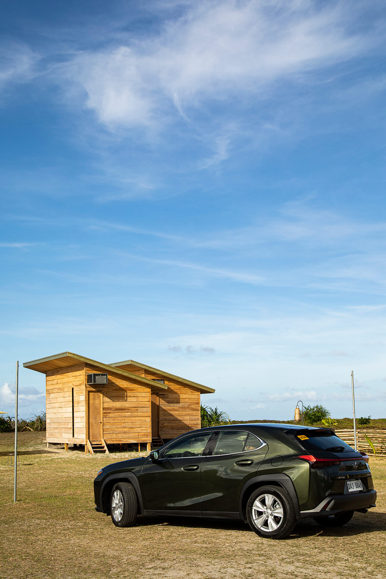 Cabanas in Siama Surf with the Lexus UX.