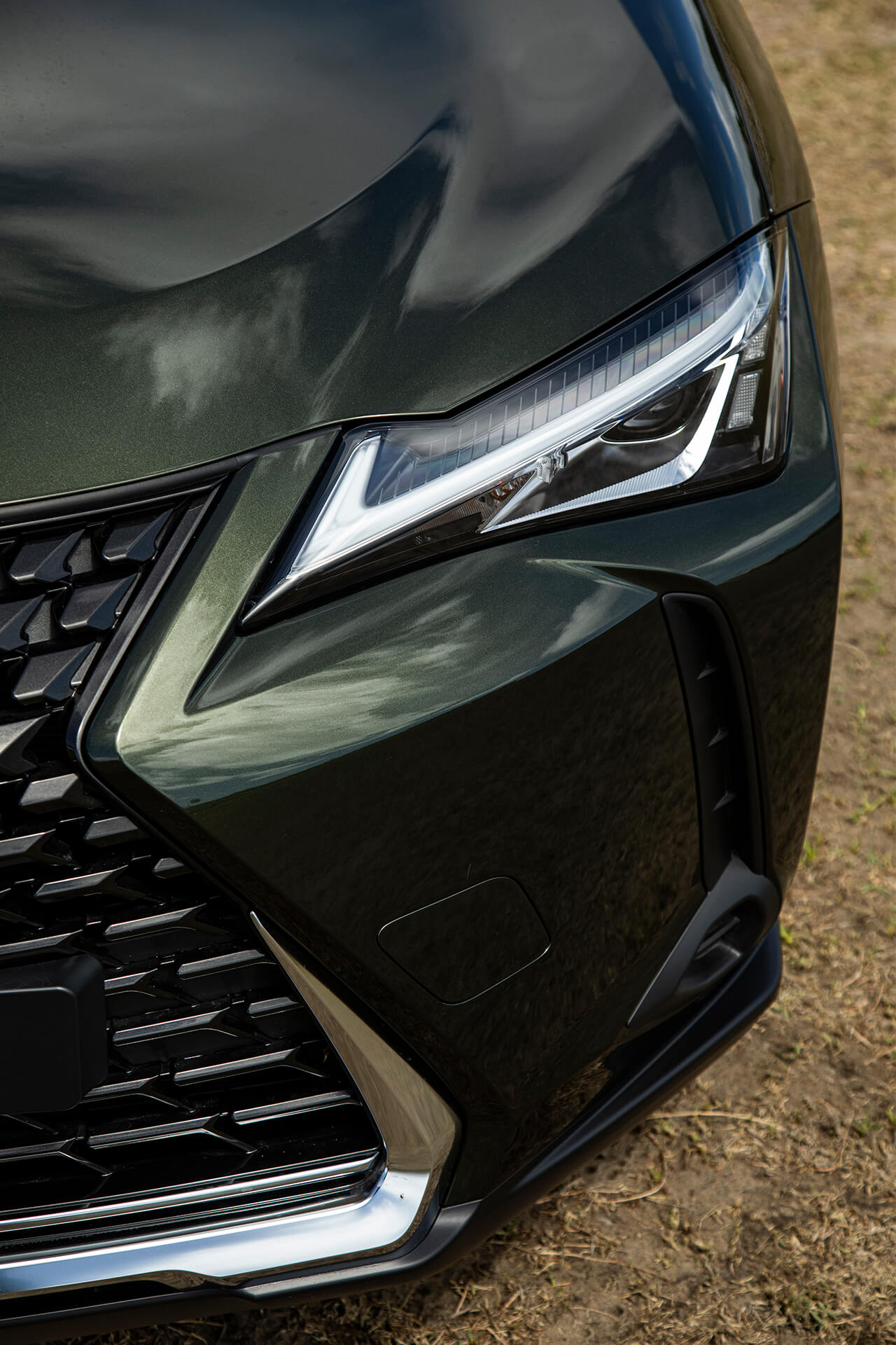 Headlight details of the Lexus UX