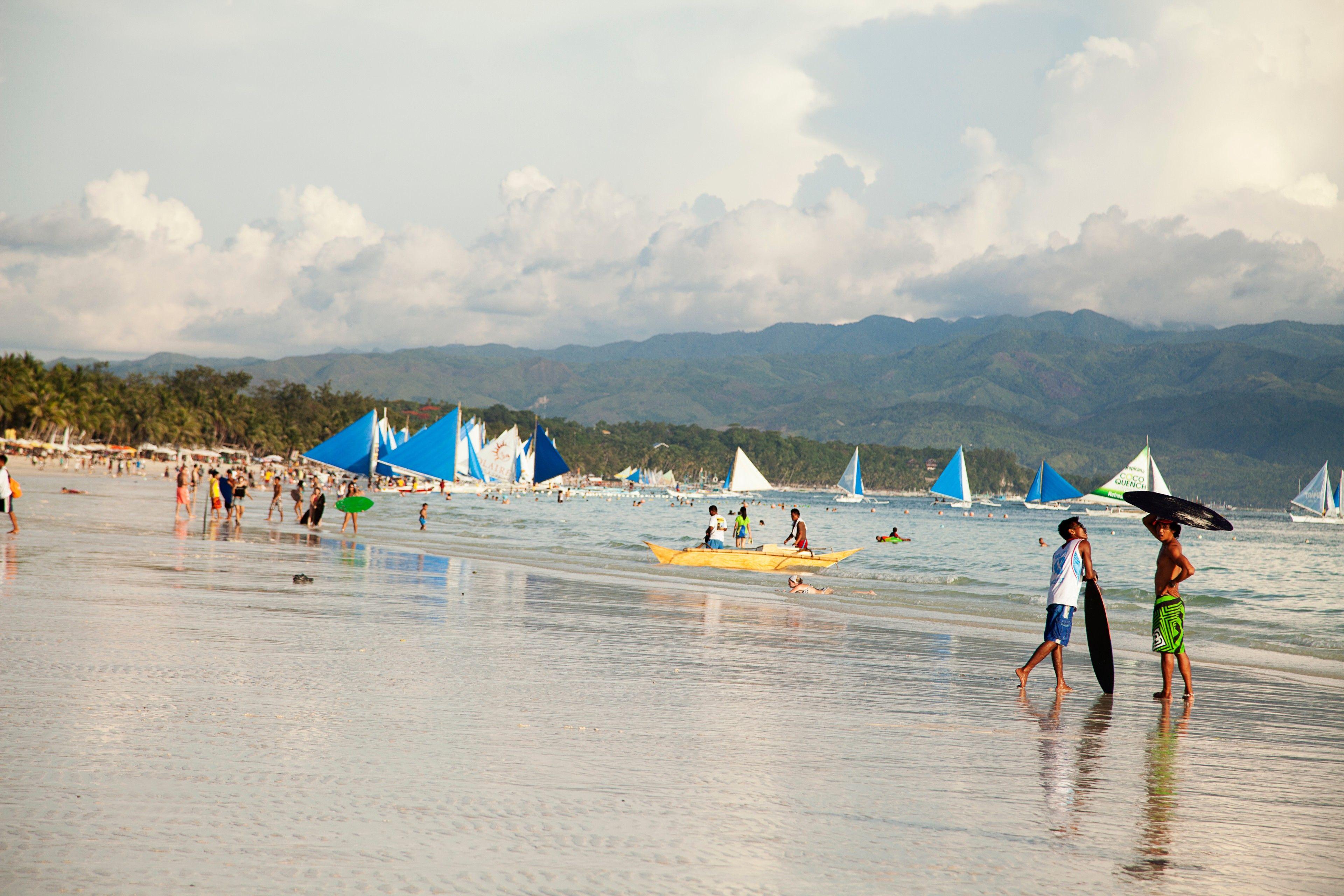 Landscape photo of the Boracay beach scene before 2020