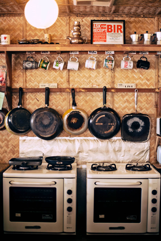 Interior of the kitchen at Spicebird Boracay