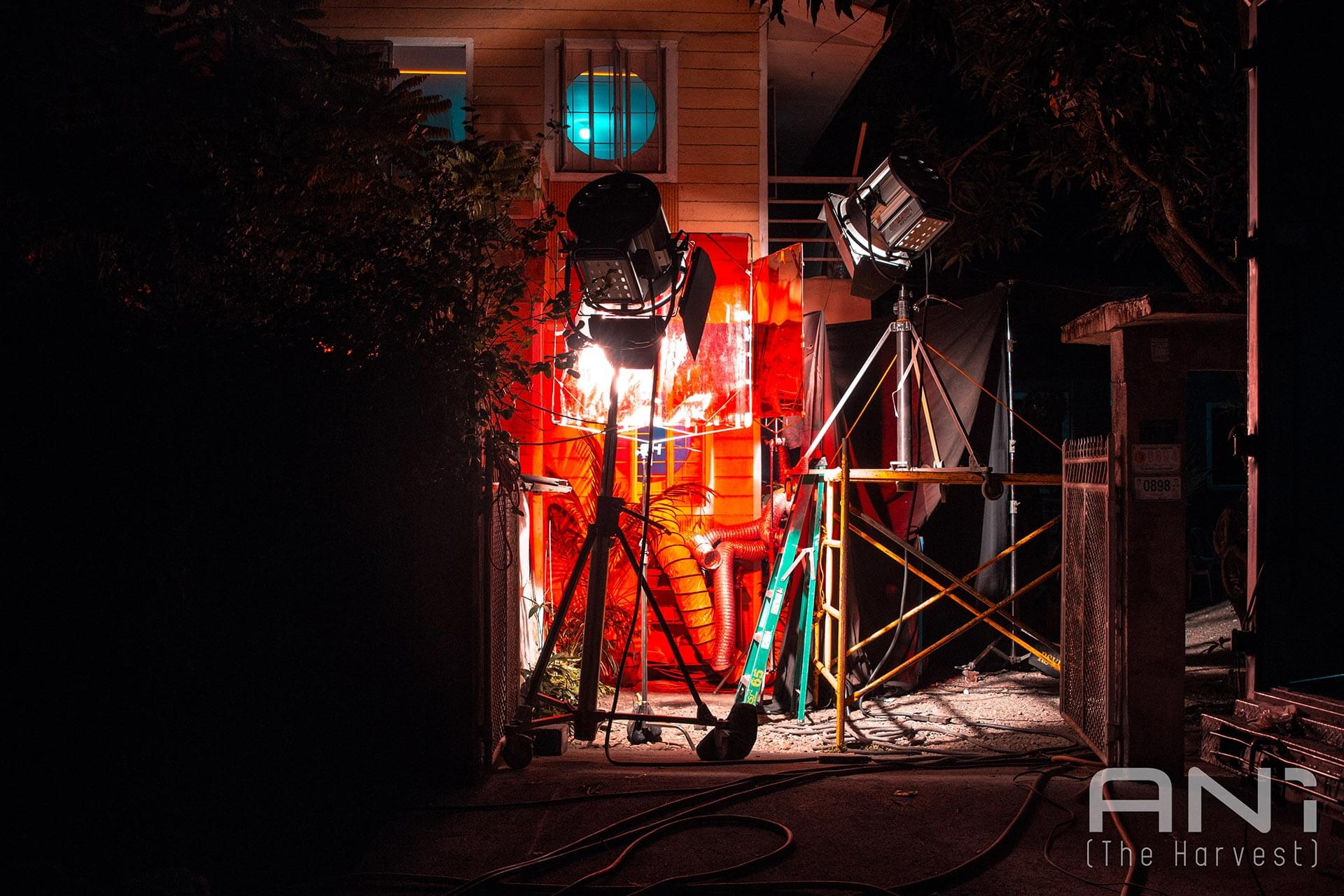 The house exterior on the set of ANI (2019).